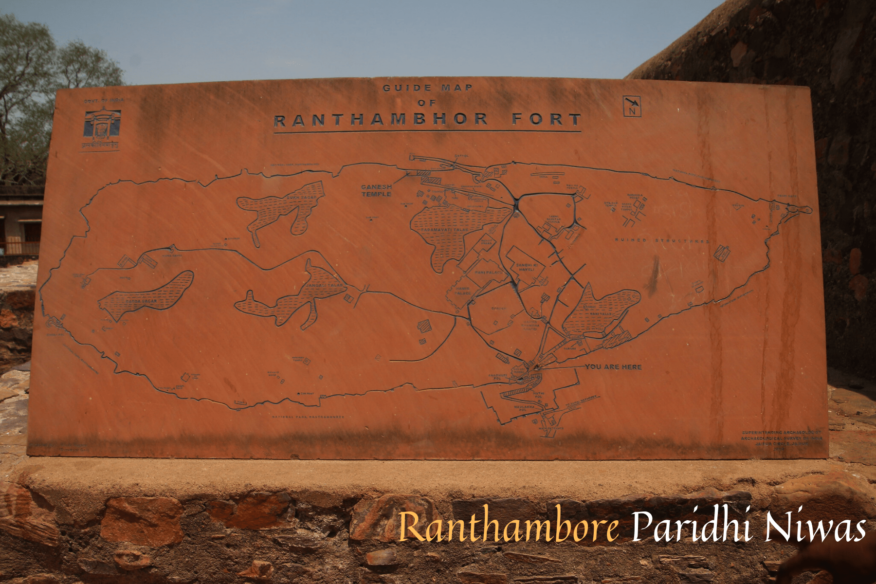 Ranthanbore Fort Map